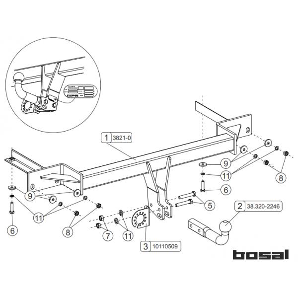 Фаркоп Bosal-Oris 038-211 на Chevrolet Tracker (2013-)