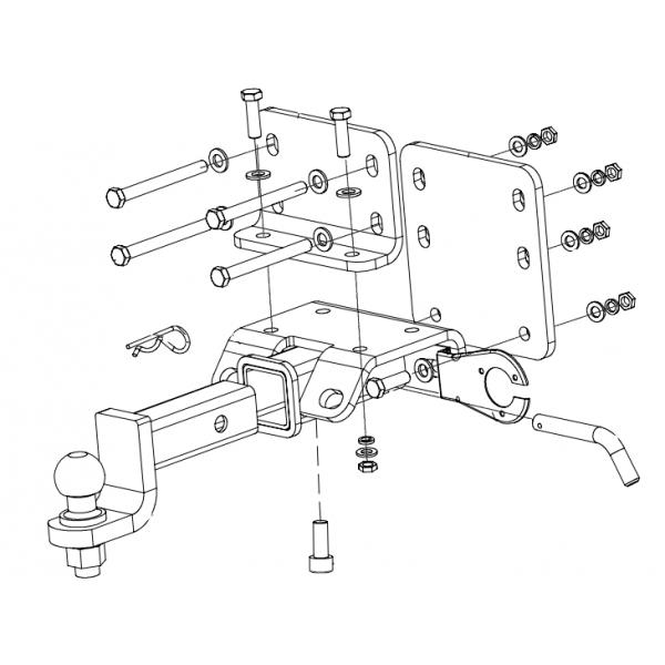 Фаркоп Baltex 24.1974.31 для Toyota Hilux (2005-2015)