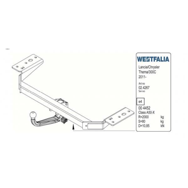 Фаркоп Westfalia 306391600001 на Chrysler 300C седан (2011-)