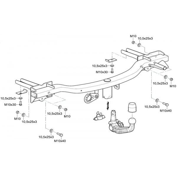 Фаркоп Westfalia 314510600001 на Chevrolet Tracker (2013-)