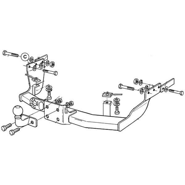 Фаркоп Brink 349500 для Ford Transit (2000-2014)