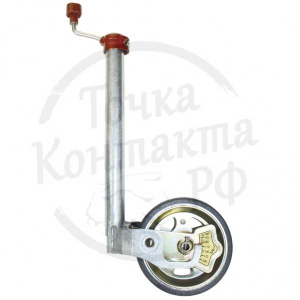 Колесо опорное на дышло прицепа AL-KO Premium с индикатором нагрузки, 300кг.