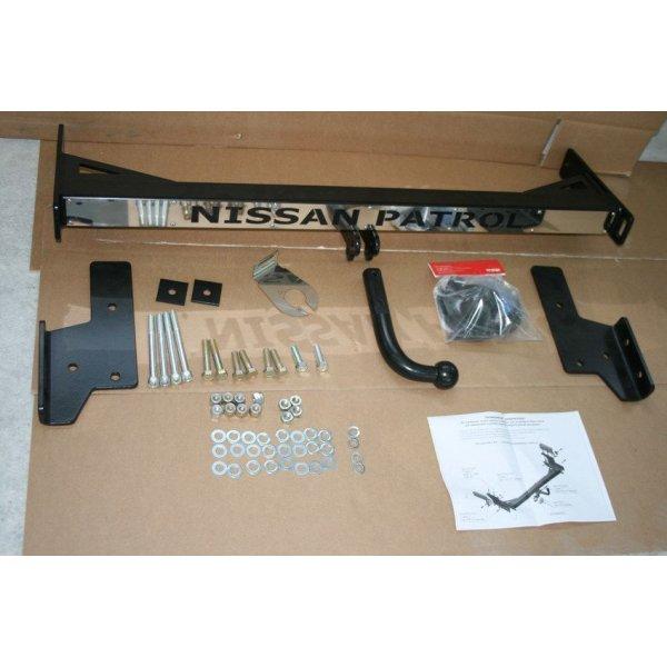 Фаркоп на Nissan Patrol Y61 (1997-2010) с накладкой Nissan Patrol