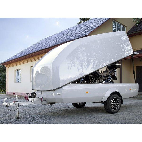 Стеклопластиковый прицеп премиум класса, белый Сталкер Туринг Макс