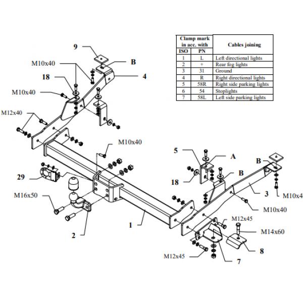 Фаркоп Auto-Hak R 08 на Citroen Jumper (1994-1999)
