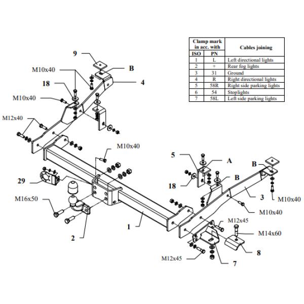 Фаркоп Auto-Hak R 24 на Citroen Jumper (1999-2006)