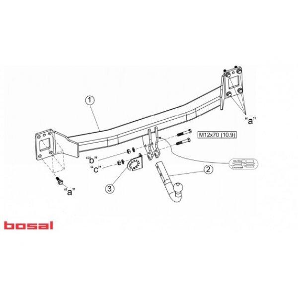 Фаркоп Bosal-Oris 029-741 для Audi Q7 (2006-2015)