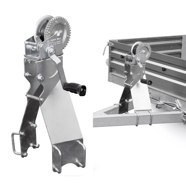 Лебедка на бортовой двухосный прицеп МЗСА с оцинкованным кронштейном