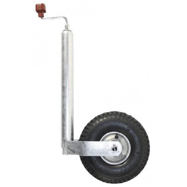 Колесо опорное на дышло прицепа AL-KO Plus с пневмошиной (надувное), 250кг.